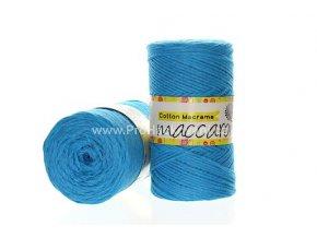 Cotton Macrame Maccaroni 11 tyrkysově modrá