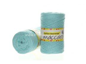 Cotton Macrame Maccaroni 9 tyrksově mentolové