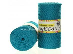 Cotton Macrame Maccaroni 15-914 tyrkysově zelené