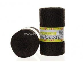 Cotton Macrame Maccaroni 38 tmavě hnědé