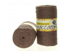 Cotton Macrame Maccaroni 35 nugátově hnědé