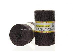 Cotton Macrame Maccaroni 32 hnědé