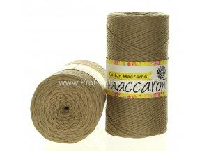 Cotton Macrame Maccaroni 55-302 pískově béžové