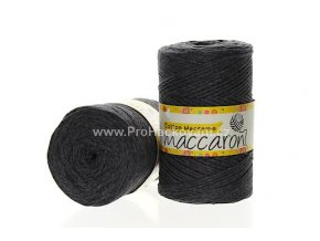Cotton Macrame Maccaroni 37 tmavě šedá melange