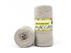 Cotton Macrame Maccaroni 33-101 světle šedá melange