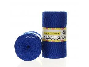 Cotton Macrame Maccaroni 46 královská modrá