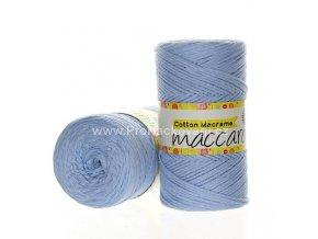 Cotton Macrame Maccaroni 10 světle modrá