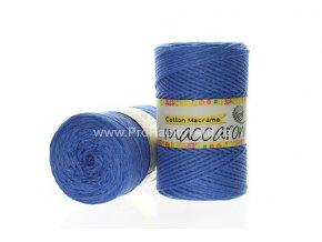 Cotton Macrame Maccaroni 12 modré