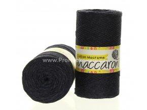 Cotton Macrame Maccaroni 61-204 antracitová melange