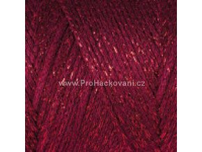 Macrame Cotton Lurex 739 červená granátová