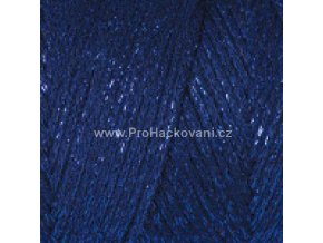 Macrame Cotton Lurex 740 tmavě modrá s modrou nitkou