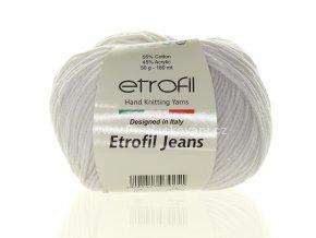 příze Etrofil Jeans 27 bílá