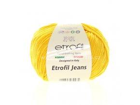 příze Etrofil Jeans 29 slunečnicově žlutá