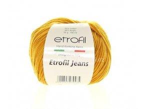 Příze Etrofil Jeans 45 horčicová