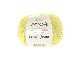 příze Etrofil Jeans 44 matná žlutá