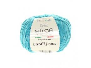 příze Etrofil Jeans 53 tmavý tyrkys