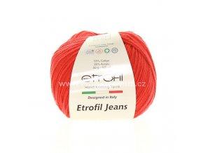 příze Etrofil Jeans 050 tmavší červená
