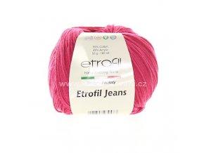 příze Etrofil Jeans 049 fuchsiová