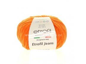 příze Etrofil Jeans 030 oranžová