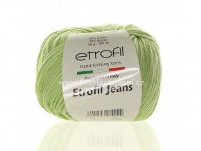 příze Etrofil Jeans 024 jemně zelená