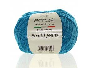 příze Etrofil Jeans 022 tyrkysová