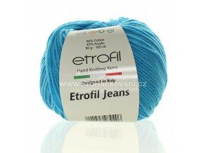 příze Etrofil Jeans 021 světle tyrkysová