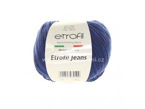 příze Etrofil Jeans 020 tmavě modrá