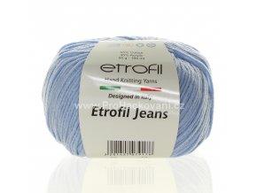 příze Etrofil Jeans 018 světle modrá