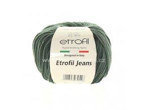 příze Etrofil Jeans 057 tmavě zelená
