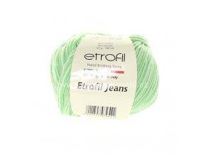 příze Etrofil Jeans 056 pastelově zelená