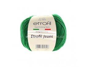 příze Etrofil Jeans 041 trávově zelená