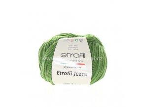 příze Etrofil Jeans 040 zelená