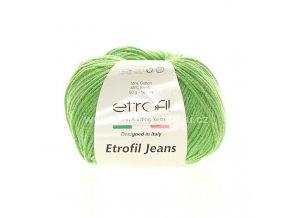 příze Etrofil Jeans 039 světlá zelená