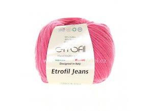 příze Etrofil Jeans 010 tmavě růžová