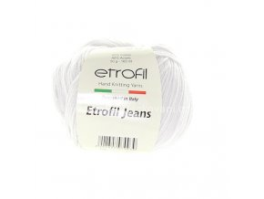 příze Etrofil Jeans 002 bílá optic