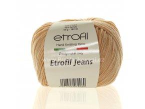 příze Etrofil Jeans 005 tmavě béžová