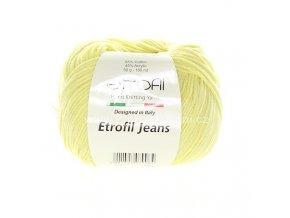 příze Etrofil Jeans 007 světle žlutá
