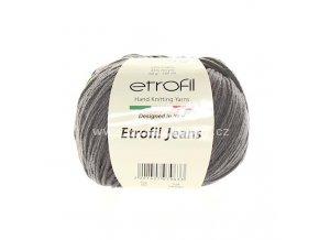 příze Etrofil Jeans 065 tmavě šedá