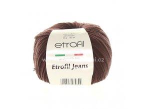 příze Etrofil Jeans 062 tmavě hnědá