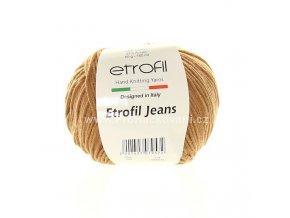 příze Etrofil Jeans 059 světle hnědá