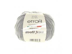 příze Etrofil Jeans 068 středně šedá