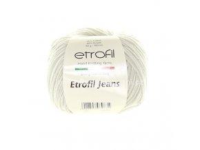 příze Etrofil Jeans 069 pastelově šedá