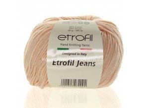 příze Etrofil Jeans008 jemná meruňková