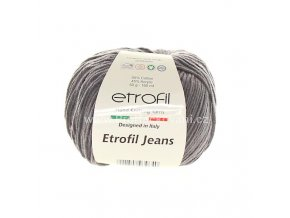 příze Etrofil Jeans 066 světlejší antracit