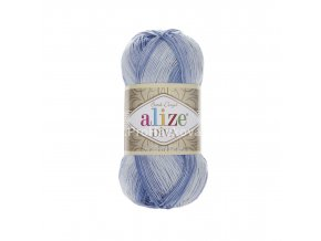 příze Diva batik 3282 variace modré