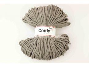 šňůry Cordy 5 mm kávové
