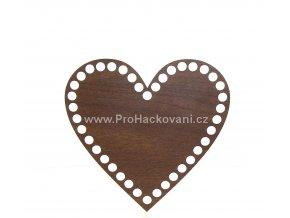 Dno na košík dekor ořech srdce Ø 15 cm