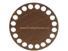 Dno na košík dekor ořech kruh Ø 10 cm