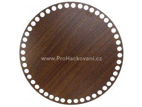 Dno na košík dekor ořech kruh Ø 20 cm