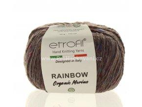 příze Rainbow Organic Merino 887 krémově hnědá